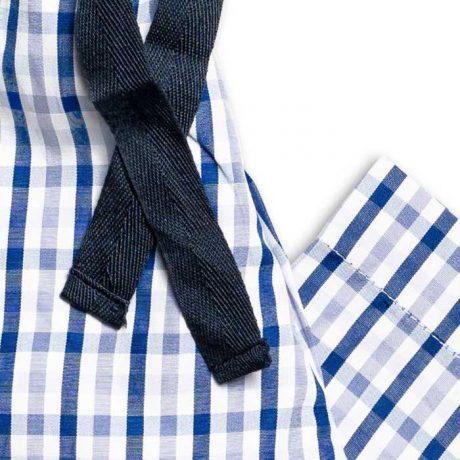 Boys Blue Check Pyjamas