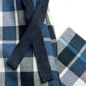 Boys Blue And Grey Check PJ Bottoms