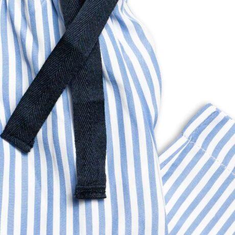 Boys Blue Stripy Pyjama Trousers