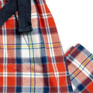 Boys Brushed Cotton Red Tartan Pyjamas