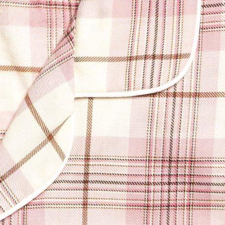 Girls Pink Tartan Pyjamas