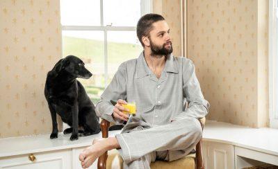 Mens Grey Pyjamas