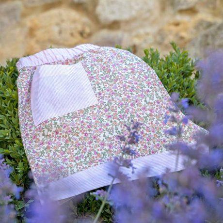Womens Deep Rose Flower Sleeping Shorts