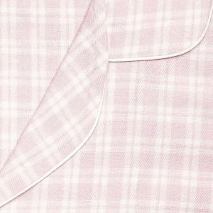 Womens Light Pink Brushed Cotton Pyjamas