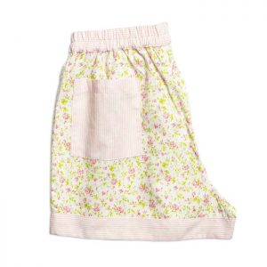 Womens Light Pink Flowers Shorts