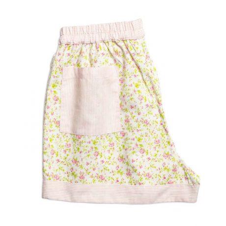 Womens Light Pink Flowers Shorts